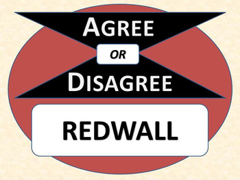 REDWALL - Agree or Disagree Pre-reading Activity