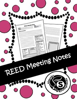 REED Meeting Notes