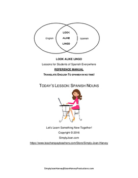 REFERENCE MANUAL:Learn Spanish Nouns