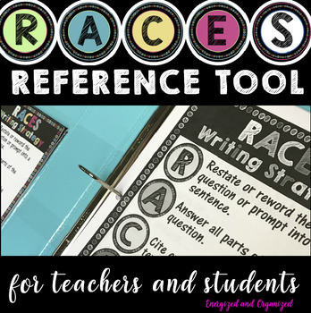 RACES WRITING STRATEGY REFERENCE TOOL- FREEBIE