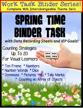REFILL ONLY: Autism Work Task Binder with Data SPRING THEME Counting to 20