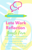 REFLECTION - Late Work / I Didn't Do My Homework