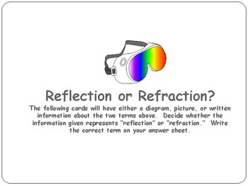 REFLECTION / REFRACTION:  Light Energy Common Core 4.P.3. 2 & Texas TEKS 5.6c