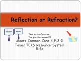 REFLECTION / REFRACTION:  Light Energy Common Core 4.P.3.