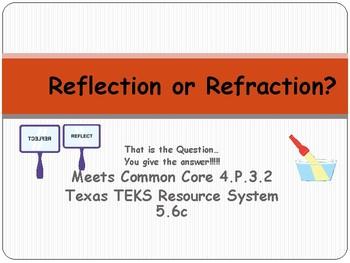 REFLECTION / REFRACTION:  Light Energy Common Core 4.P.3.