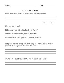 REFLECTION TEMPLATE