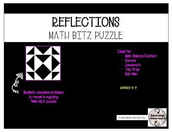 REFLECTIONS - MATH BITZ PUZZLE