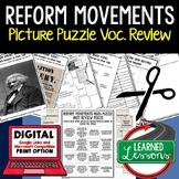 REFORM MOVEMENTS 1800S Activity Picture Puzzle Unit Review