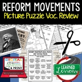 REFORM MOVEMENTS 1800S Picture Puzzle Unit Review, Study G