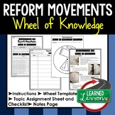 REFORM MOVEMENTS Activity, Wheel of Knowledge Interactive Notebook