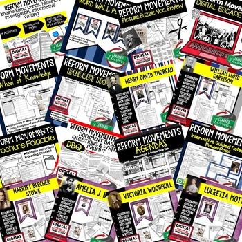 REFORM MOVEMENTS BUNDLE (AMERICAN HISTORY BUNDLE)