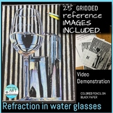 REFRACTION-Gridded images, viewfinders, instructional hand
