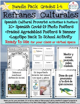 REFRANES-Spanish Cultural Sayings Posters & Lessons in Powerpoint   Grades 3-5
