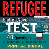 REFUGEE (Alan Gratz) End-of-Novel Test - 40 Question Assessment