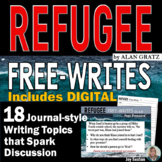 REFUGEE by Alan Gratz - Free-Writes Journal-style Writing Prompts with Log