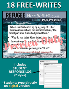REFUGEE by Alan Gratz - Novel Study Unit  - Standards-Aligned