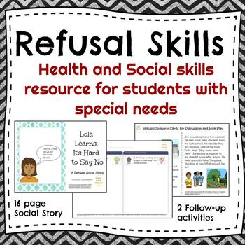 Saying No and Other Refusal Skills Social Story w/activities