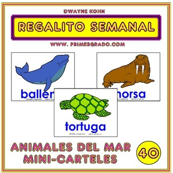 REGALITO SEMANAL #40: Animales del Mar Mini-Carteles