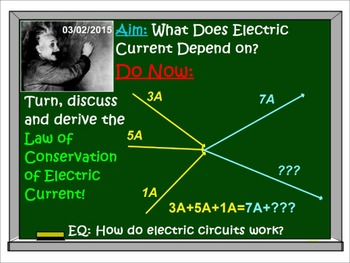 PHYSICS ELECTRICITY: Electric Current, Voltage, Ohm's Law. Test Prep Worksheets