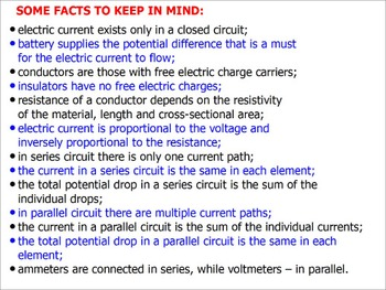 PHYSICS ELECTRICITY: Properties Of Series Parallel Circuits Test Prep Worksheets