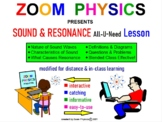 SOUND PHYSICS: Sound Waves, Doppler Effect Resonance Review Test Prep Worksheets