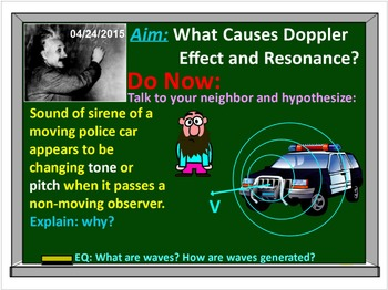 PHYSICS: WAVES: Sound Waves, Doppler Effect, Resonance Test Quiz Prep Worksheets