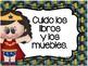 REGLAS DE LA BIBILIOTECA CON SUPER HEROES.
