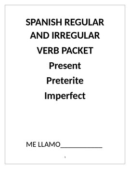 REGULAR AND IRREGULAR VERB REVIEW PRESENT PRETERITE IMPERFECT