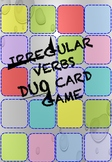 Game of Happy Regular and Irregular Verbs Couple Cards Game