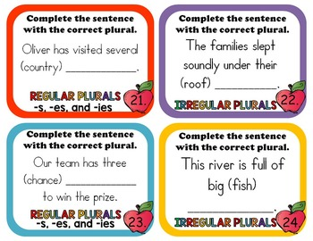 Regular and Irregular Nouns