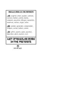 REGULAR Preterite Foldable