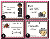 Preterite Spanish Task Cards: Regular AR/IR/ER - Pretérito: 24 Unique Verbs