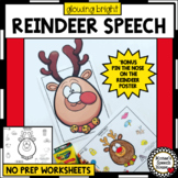 REINDEER ARTICULATION NO PREP worksheets SPEECH THERAPY bonus PIN THE NOSE