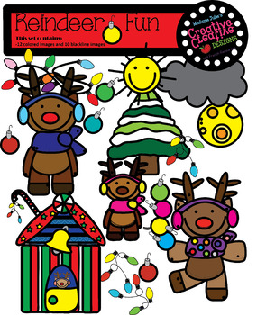 REINDEER FUN [PNG DIGITAL CLIPART]