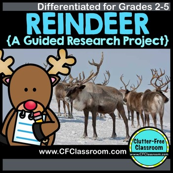 REINDEER RESEARCH PROJECT | REINDEER WRITING | INFORMATIONAL WRITING