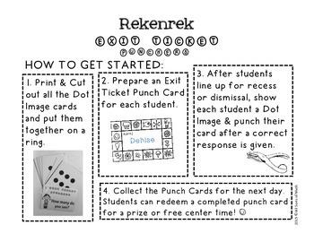 REKENREK Exit Ticket Punchers {Kinder/Gr 1}
