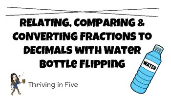 Relating, Comparing & Converting Fractions to Decimals with Bottle Flipping