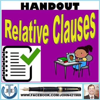 RELATIVE CLAUSE: HANDOUTS