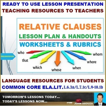 RELATIVE CLAUSE: READY TO USE LESSON PRESENTATION