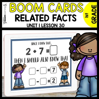 RELATIVE FACTS BOOM CARDS | Module 1 Lesson 30