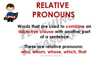 RELATIVE PRONOUNS PowerPoint CCSS Aligned