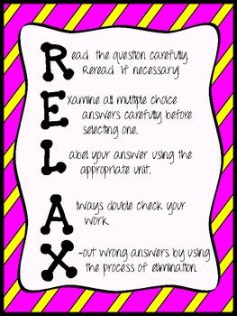 R.E.L.A.X. Test Prep poster