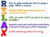 RELAX - Test Taking Strategies Poster