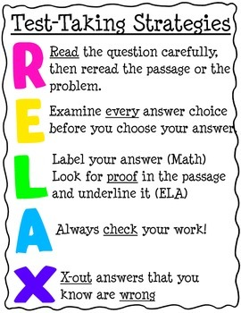 RELAX Test-taking Strategies
