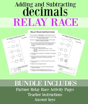 RELAY RACE Adding & Subtracting Decimals