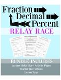 RELAY RACE Fraction Decimal Percent Conversions
