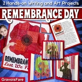 REMEMBRANCE DAY Activities Bundle! TWO Hands-on Writing and Art Projects