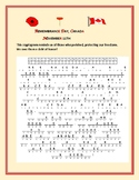 REMEMBRANCE DAY, CANADA:  A CRYPTOGRAM ACTIVITY  w/answer key
