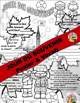 REMEMBRANCE DAY FRENCH POSTER & VOCAB (Jour du Souvenir)