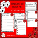 REMEMBRANCE DAY Poetry - 11th November - Veterans Day